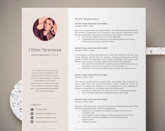 Modele De Cv Pour Mac Et Pc Entierement Compatible Avec Les Pages Mac Et Ms Word Telechargement Numerique Ins Format Cv Modele De Cv Professionnel Cv Creatif
