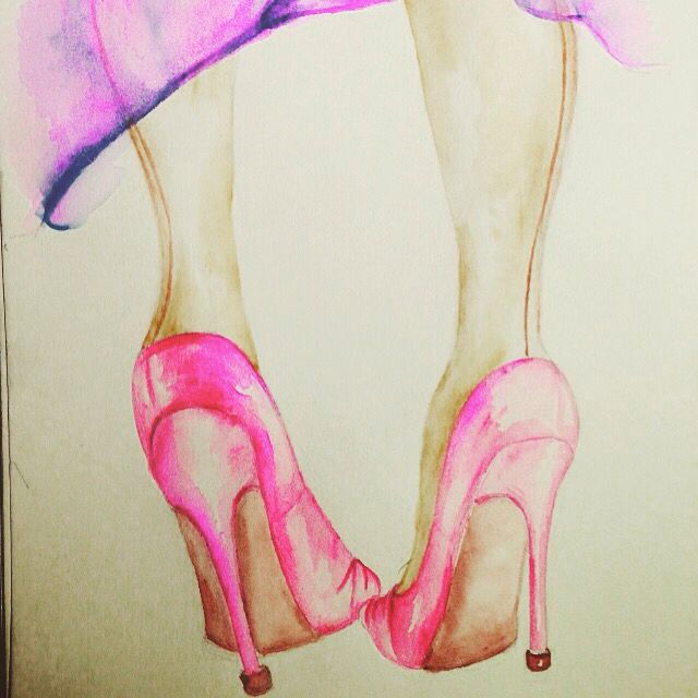 Friday shoes #shoes #art #sketch #highhills