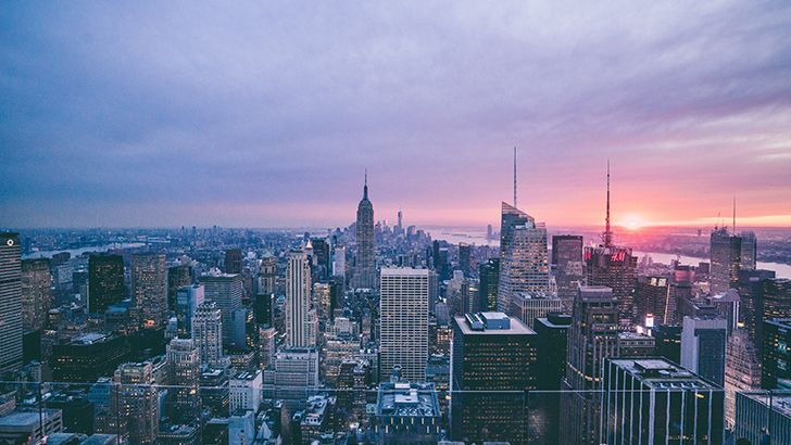 Sky view of the city  http://5kwallpapers.com/wall/sky-view-of-the-city  #skyview #city #beautiful #sunset #urban #nature