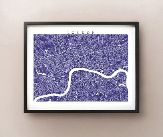 interesting art - - - London Map by CartoCreative on Etsy $20
