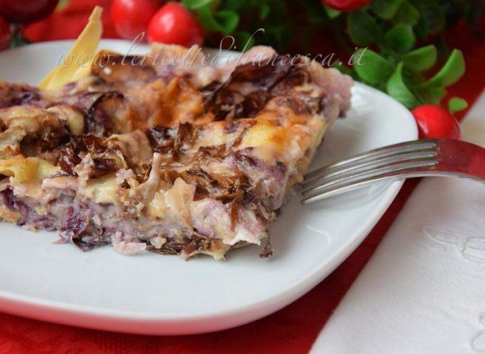 Lasagna al radicchio | Ricetta semplice e veloce