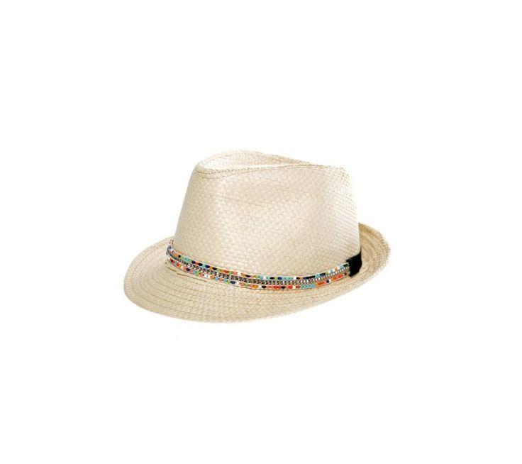 Slaměný klobouk s korálkovou aplikací | modino.cz  #ModinoCZ #modino_cz #modino_style #style #fashion #spring #summer #hat