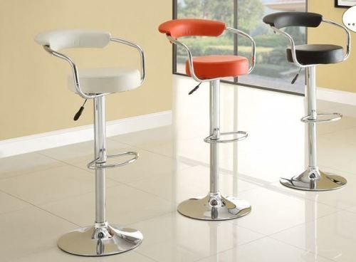 Homelegance Airlift Adjustable Ride Collection Retro Bar Stools With  Backrest (set Of 2) 1149