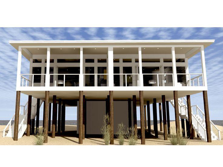 102 best duplex house plans images on pinterest duplex for Coastal duplex house plans