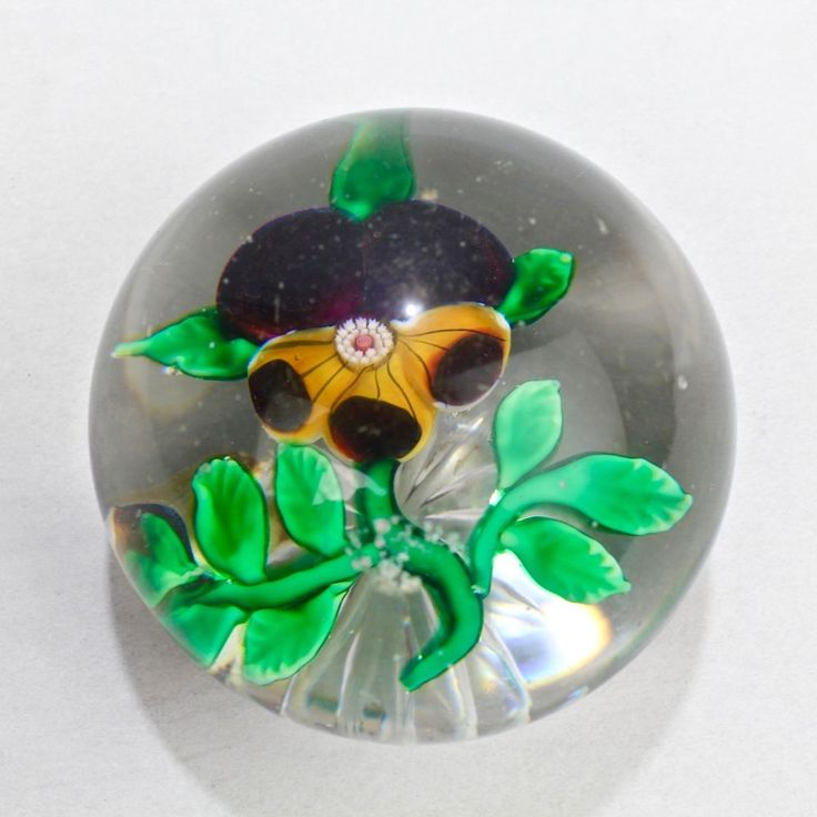 Antique Baccarat Paperweight With Nice High Dome Gl
