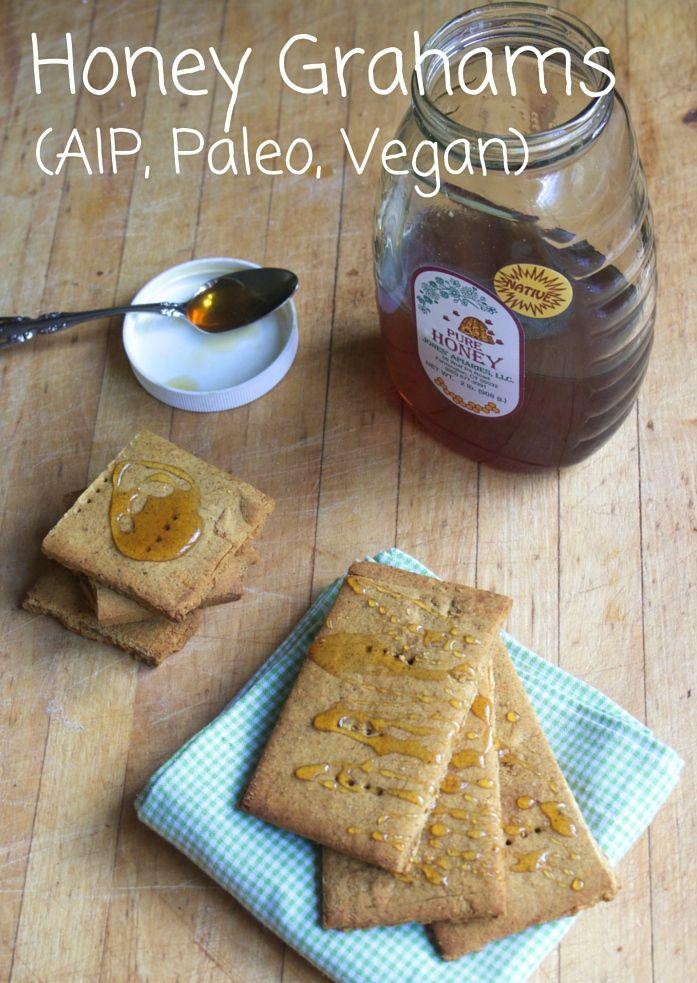 AIP friendly Honey Grahams (Coconut-free) Featuring Otto's Cassava Flour and Organic Gemini Tigernut flour!