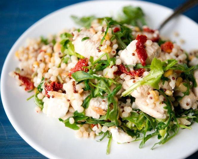 Quinoasalade met kip, feta en rucola ♥ Foodness - good food, top products, great health