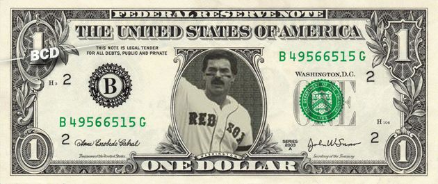 Red Sox DWIGHT EVANS - Real Dollar Bill Cash Money Collectible Memorabilia Celebrity Novelty Bank Note by Vincent-the-Artist, $7.77 USD