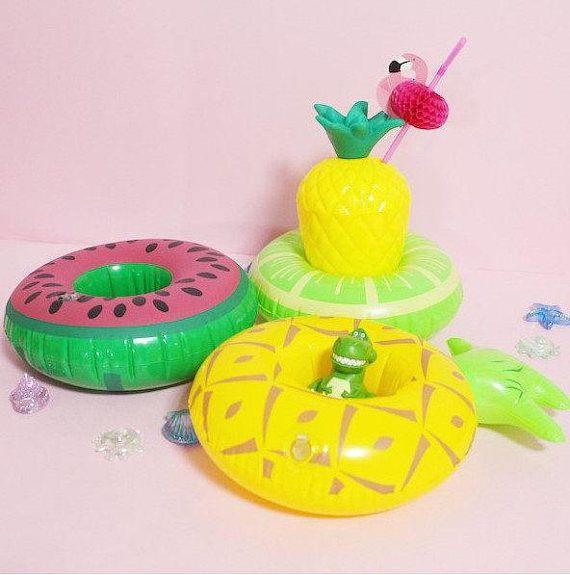 2 opblaasbare ananas watermeloen of meloen drank houders