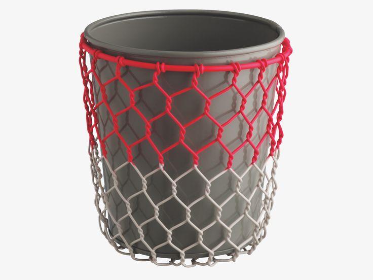 TYSSEN GREY Metal Small grey wire planter - HabitatUK