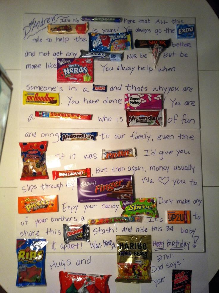 Candy Sayings Birthday-Gram! | Birthdays | Pinterest | Candy Sayings ...