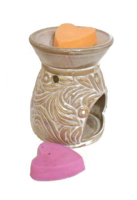 Brûle parfum et 2 Cires Parfumées Cire Végétale : Luminaires par bougies-parfumees-fleur-artifice
