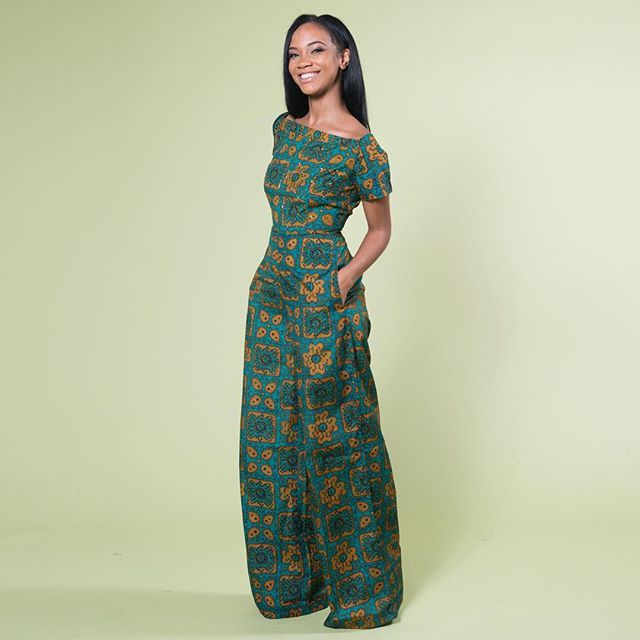 New from Zephans & Co.: Levictoria Danielle Jumpsuit in Green • available at zuvaa.com + enjoy FREE shipping in the US only
