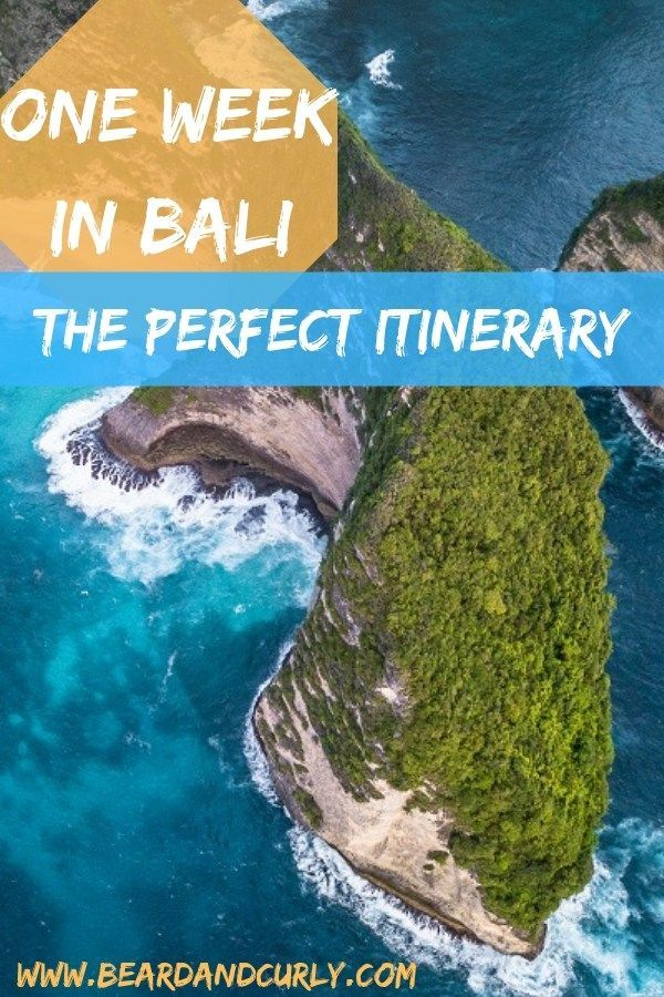 One Week in Bali: The Perfect Travel Itinerary #travel