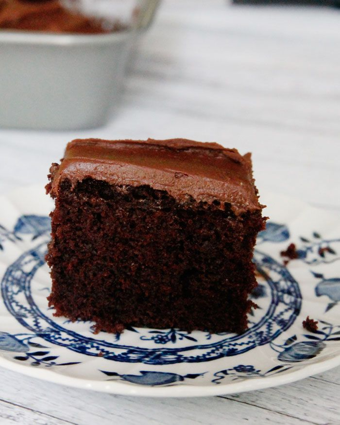 Chocolate Depression Cake-also know as a Crazy Cake or Wacky Cake, it's also egg-free and dairy free for those with allergy issues