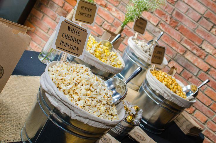 Wedding favors - popcorn bar