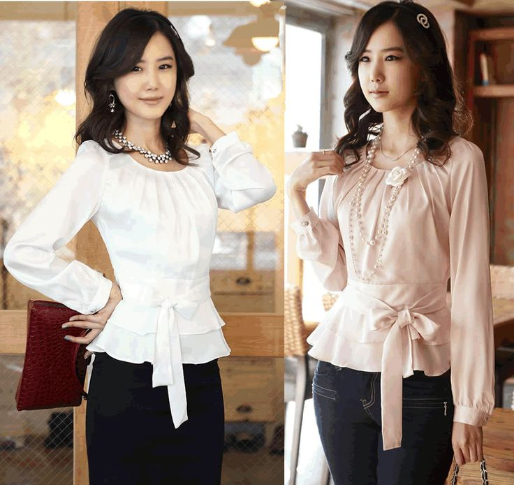 Free shipping  fashion women shirts OL dress shirt  fashionable tops office lady rayon tops  long sleeve  formal work blouses $17.99