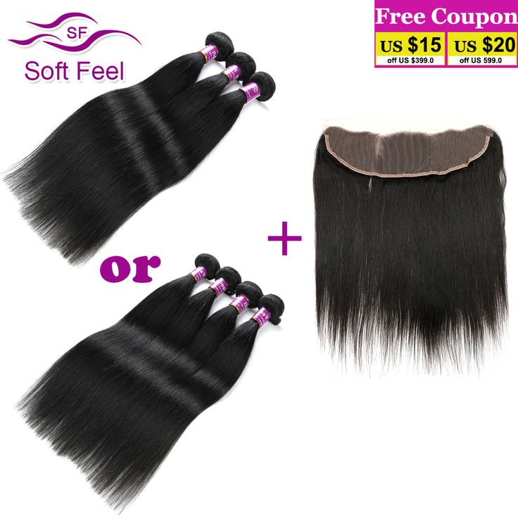 Peruvian Virgin Hair With Frontal Closure 3/4 Bundles Deals 13x4 Lace Frontal With Baby Hair Perucas Lace Front Humano Platinada
