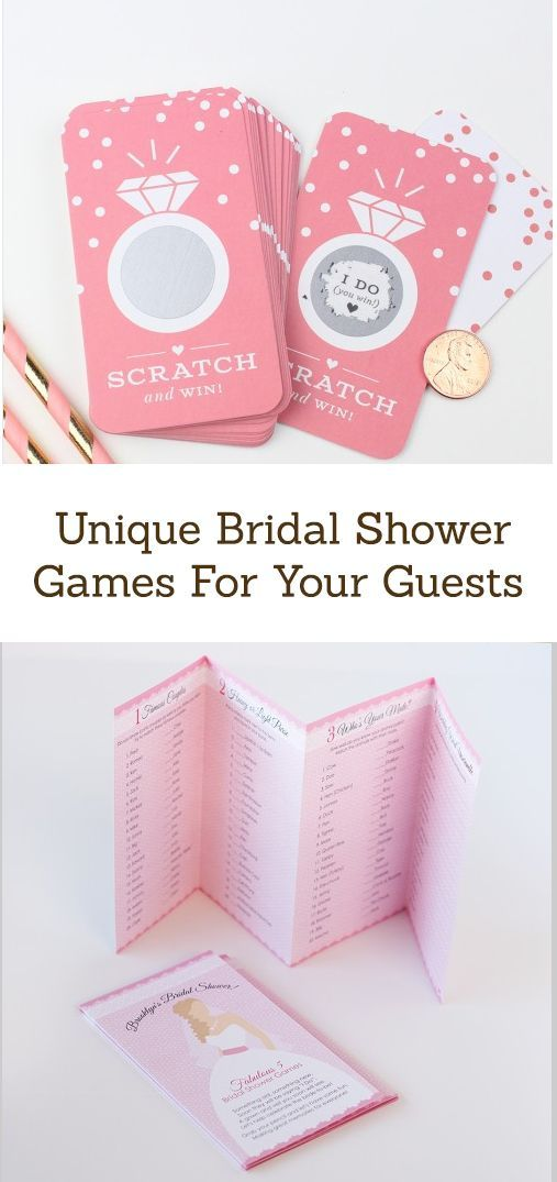Celebrate the bride-to-be with fun and unique bridal shower games! From advice cards to bingo to scratch cards, find eveything you need for a fun time.