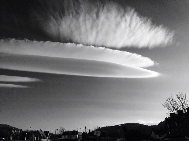 Lenticular clouds, North Wales