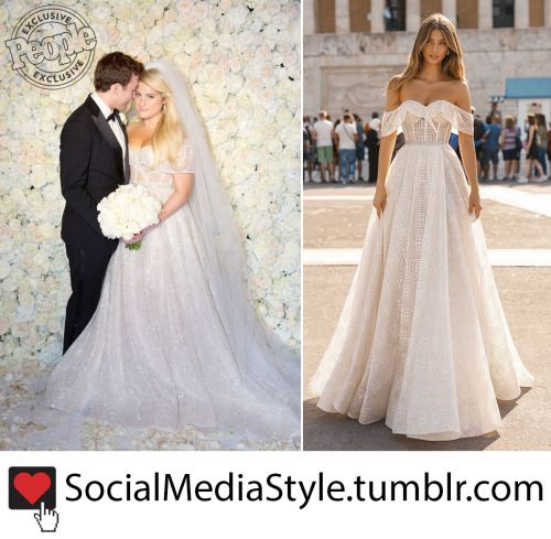 ab3ded557e7 Check out Meghan Trainor s stunning Berta wedding dress here!