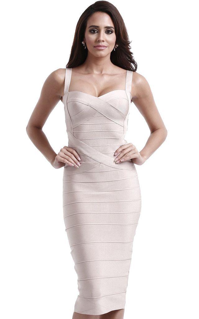 Criss Cross Midi Bandage Dress - The Kewl Shop  - 1