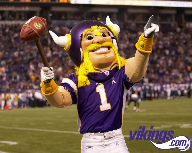 What a stupid mascot Get him outa there! Vikings