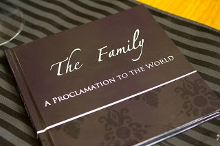 The Family - A Proclamation to the World. A 48-page photo book that uses the entire text from 'The Family – A Proclamation to the World' to match your family's photographs.  Printed at 8 x 8 inches, it would be a lovely feature on your prayer table. This would be a precious gift for parents and grandparents on any occasion.