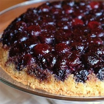 Cherry Cornmeal Upside-Down Cake | Mmm (plus) | Pinterest