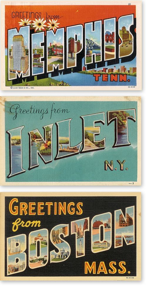 image result for vintage greetings from postcard template retro