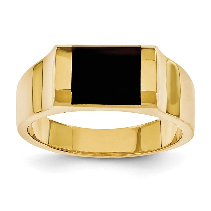 14k Mens Onyx Ring OR238