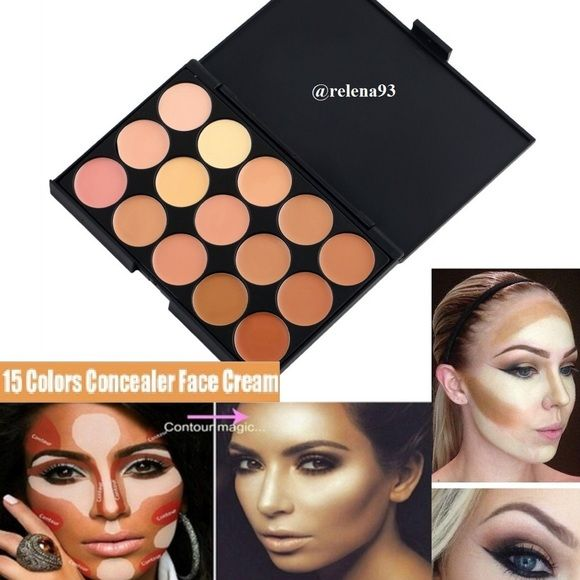 NEW ! 15 Colors Contouring Makeup Palette! •BRAND NEW & NEVER USED  •Comes with Instructions via Tutorial Video link  •Same Day Shipping  •Professional 15 Colors Cream Face Contour  •An extensive range of 15 multiple vibrant long wear concealer colors with different skin tones to create more than 10,000 amazing looks.  •Using the most commonly applied shades, ensures the best skin color match and guarantees a trace less and natural finish. Makeup Concealer