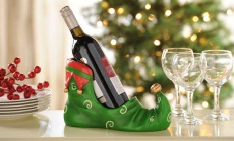 Elf Boot Wine Holder #kirklands #seasonaldecor