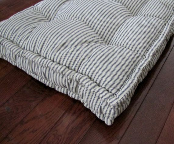 Custom Bench Cushion Ticking Stripe Window Seat By Gratefulhome Custom Bench Cushion French