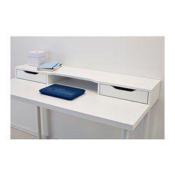 Je creëert eenvoudig een praktische plek voor pennen en papier omdat het opbouwdeel met 2 de ruime lades eenvoudig op het tafelblad te bevestigen is. Perfecte opberger voor je laptop in de ruimte tussen de 2 lades.