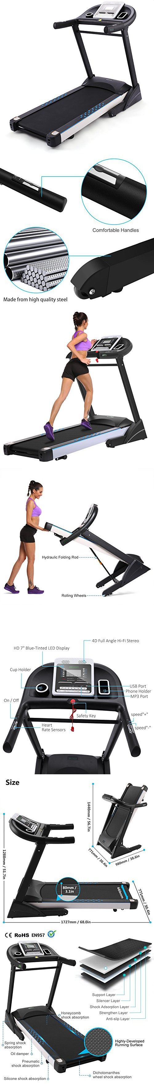 Folding Electric Motorized Treadmill Exercise Portable Walking Running Gym Fitness Machine [US STOCK]