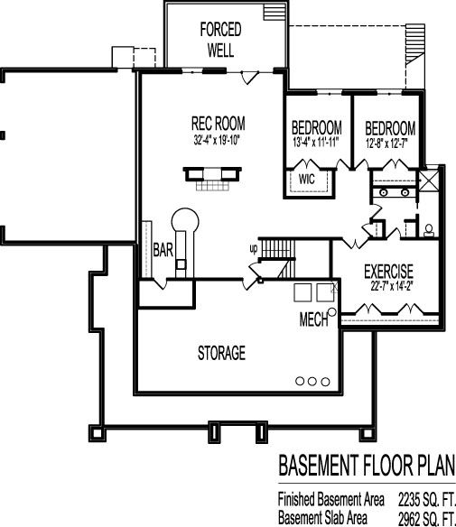 Design basement layout google search for the home for 3 bedroom house plans with garage and basement