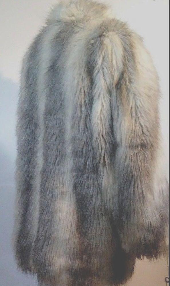 Vintage Eybl Artfur Gray Faux Fur Jacket Size 18 #EyblArtfur #BasicJacket #fauxfur #Fashion #eBay