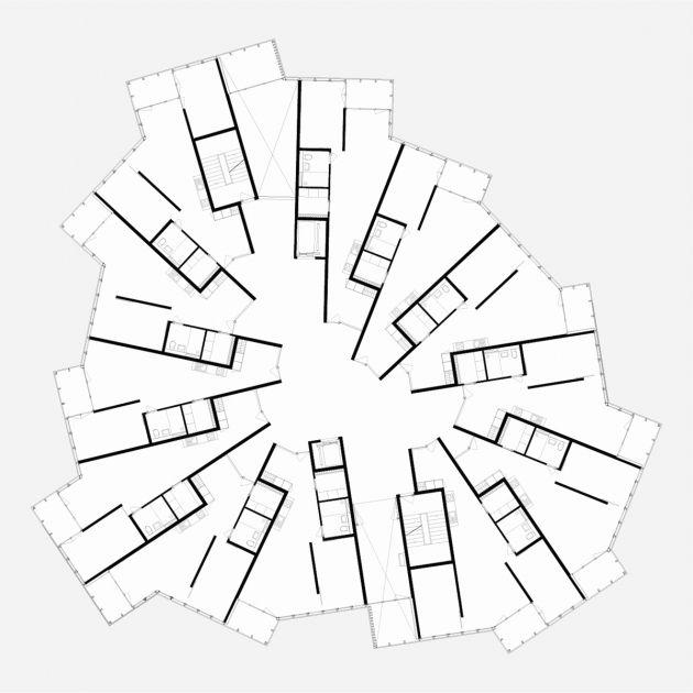 12 Wohnungen, Wettbewerb Siedlung Helen Keller, Zürich, Atelier Scheidegger Keller