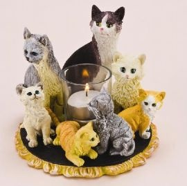 Kitten and Cat Candle Holder #Magnamail