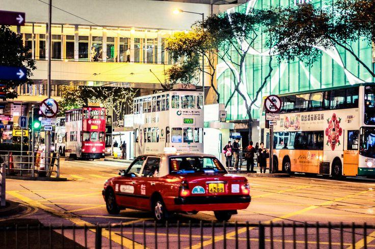 #hongkong #city #contemporary #modern #architecture #view #steet #taxi