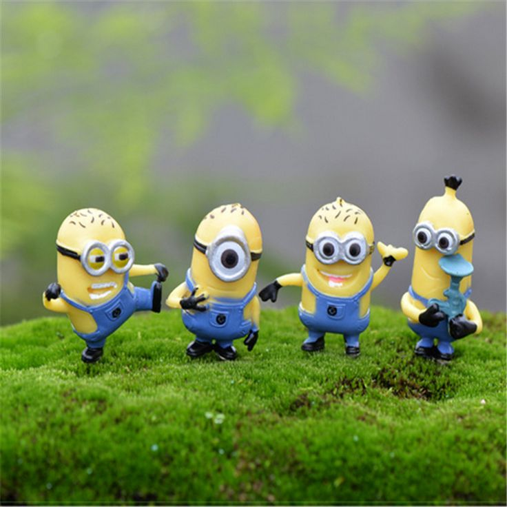 2016 Minions Figurine Fairy Garden Miniatures Minion Mini Garden Decoration Terrarium Figurines Miniature Fairy Figurines Craft-in Figurines & Miniatures from Home & Garden on Aliexpress.com | Alibaba Group