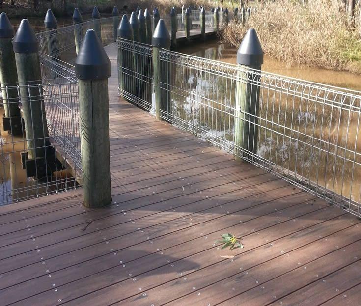 Black Bean Marina; wetlands #ModWood #WideDecking #Boardwalk