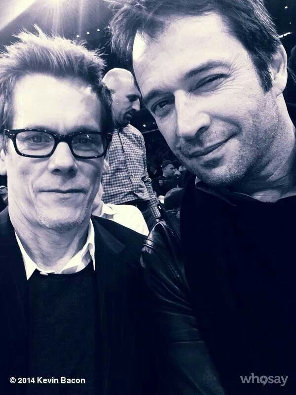 Kevin Bacon and James Purefoy from my favourite tv show, The Following