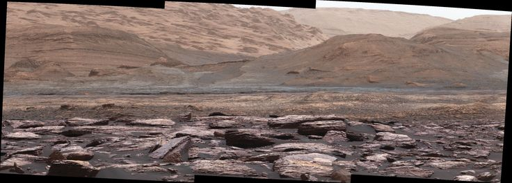 Color Variations on Mount Sharp Mars The foreground of this scene from the Mast Camera (Mastcam) on NASA's Curiosity Mars rover shows purple-hued rocks near the rover's late-2016 location on lower Mount Sharp. The scene's middle distance includes higher layers that are future destinations for the mission. December 14 2016