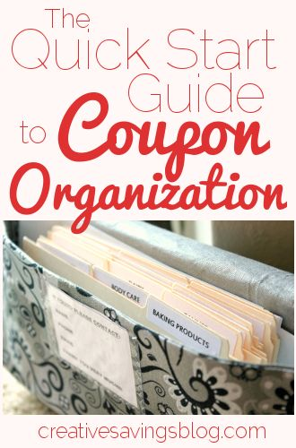 Don't be overwhelmed by the amount of coupons available. Create a coupon organization system to help maximize savings!