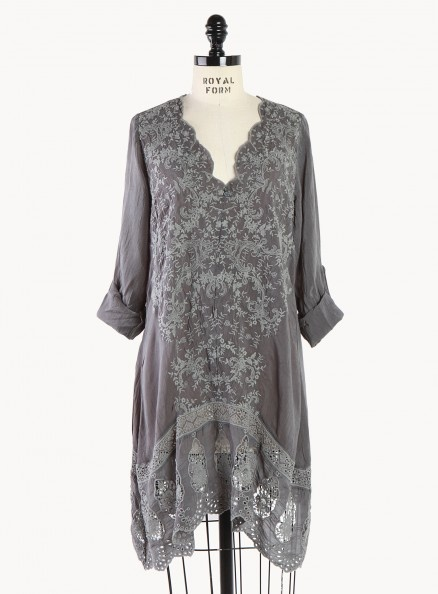 Mirror Embroidered V-Neck Tunic from Johnny Was