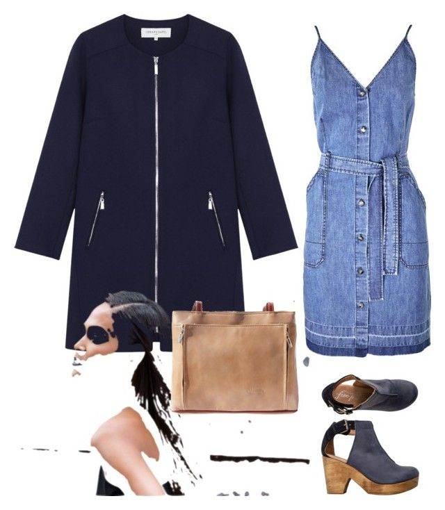 """anyday look"" by wisacb on Polyvore featuring J Brand, Free People, Gérard Darel and Porsche"