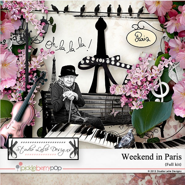 Weekend in Paris by Studio Lalie Designs  https://www.pickleberrypop.com/shop/product.php?productid=26267=0=1