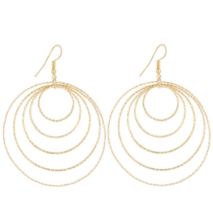 CACANA Gold Plated Dangle Long Earrings For Women 5 Round Top Quality Fashion Bijouterie Hot Sale No.A514 A515